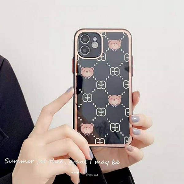 L-V gu-cci dis-ney Mirror Glass Covers Protective Back Shell For iPhone 13/12 pro max 11 xr/xs Buy Wholesale