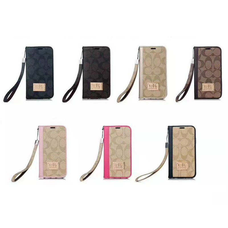 Coach Leather Cases Chain Book Holster Cover For iPhone 13